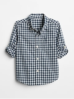 Toddler Gingham Convertible Shirt