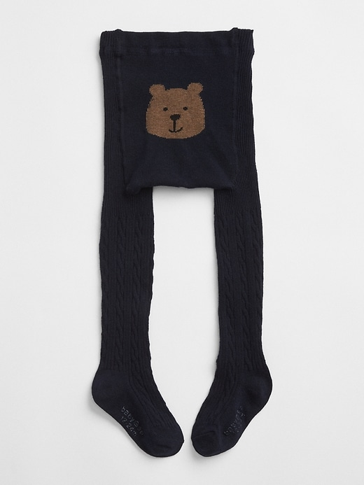 Bear Graphic Cable Knit Tights by Gap