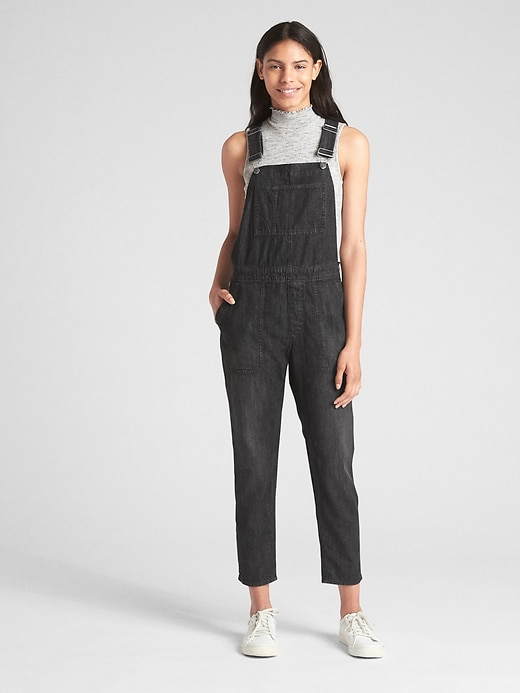 Relaxed Denim Overalls by Gap