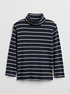 Stripe Turtleneck Long Sleeve Shirt