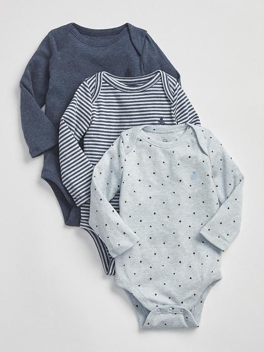 Favorite Long Sleeve Bodysuit (3 Pack) by Gap