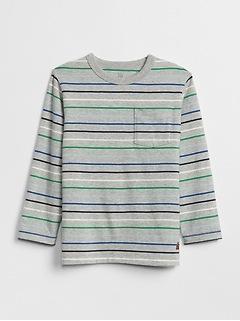 T-shirt à manches longues à rayures