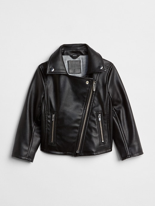 Faux Leather Biker Jacket by Gap