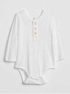 Henley Long Sleeve Bodysuit