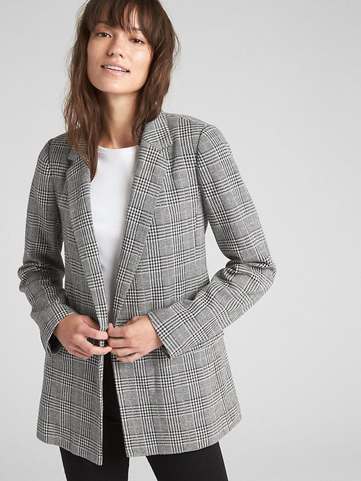 Classic Plaid Girlfriend Blazer by Gap