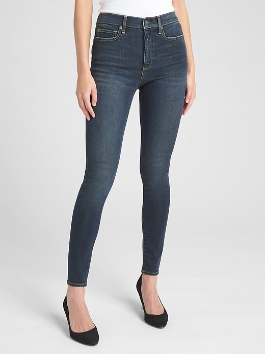 Soft Wear Super High Rise True Skinny Jeans by Gap