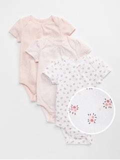 Baby First Favorite Floral Short Sleeve Bodysuit (3-Pack)