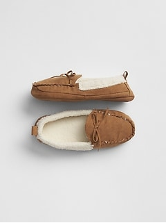 Kids Cozy Moccasin Slippers