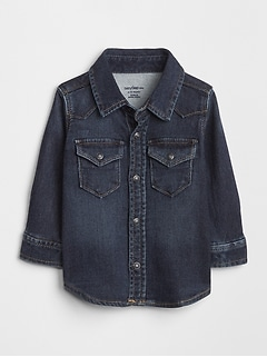 Baby Super Soft Denim Western Shirt