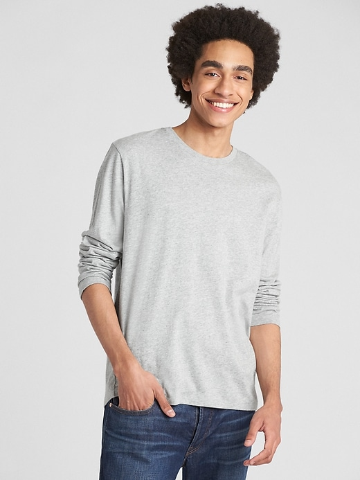 Long Sleeve Crewneck T Shirt by Gap