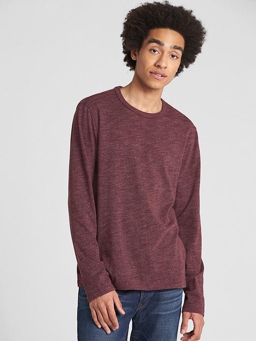 Long Sleeve Marled Classic T Shirt by Gap