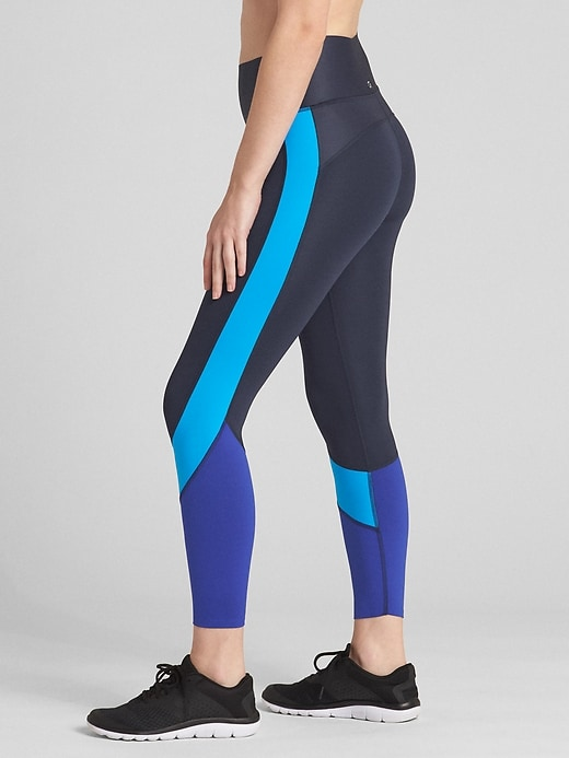 G Fast High Rise Colorblock 7/8 Zone Leggings by Gap