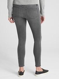 dc2fc3fbbd5c6 Maternity Soft Wear Full Panel True Skinny Jeans | Gap