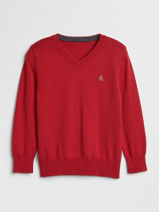 Brannan Bear V Neck Sweater by Gap