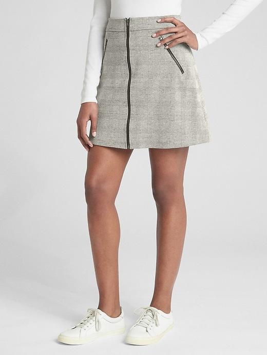 Plaid Zip Front Mini Skirt by Gap