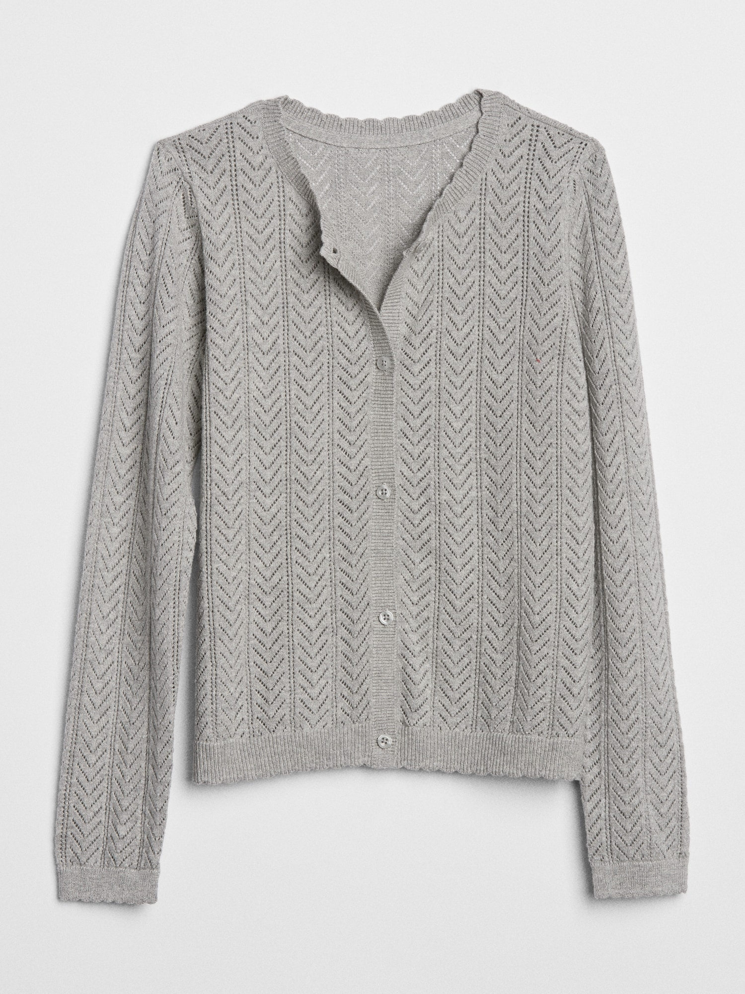 bb002224d2 Pointelle Cardigan Sweater