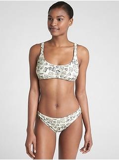 Adjustable Halter Print Bikini Top