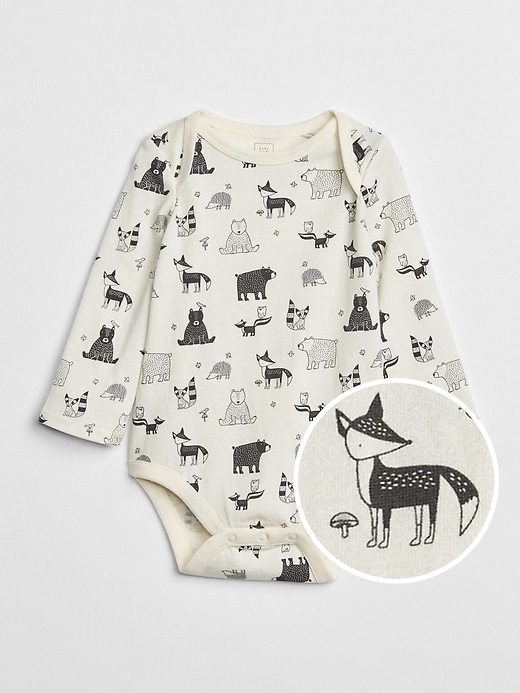 Organic Graphic Long Sleeve Bodysuit by Gap