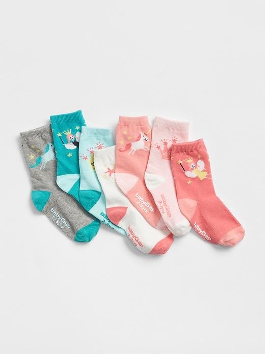 Fairytale Days Of The Week Crew Socks (7 Pack) by Gap