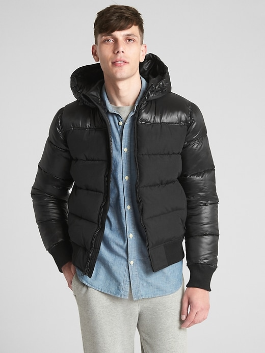 Heavyweight Hooded Puffer Jacket by Gap