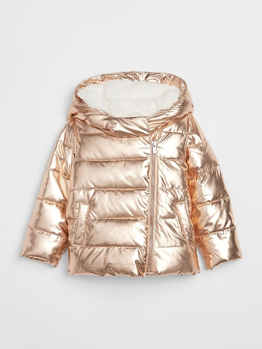 Cold Control Max Metallic Puffer Jacket by Gap