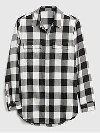 e342bb25898 Oversized Boyfriend Flannel Shirt