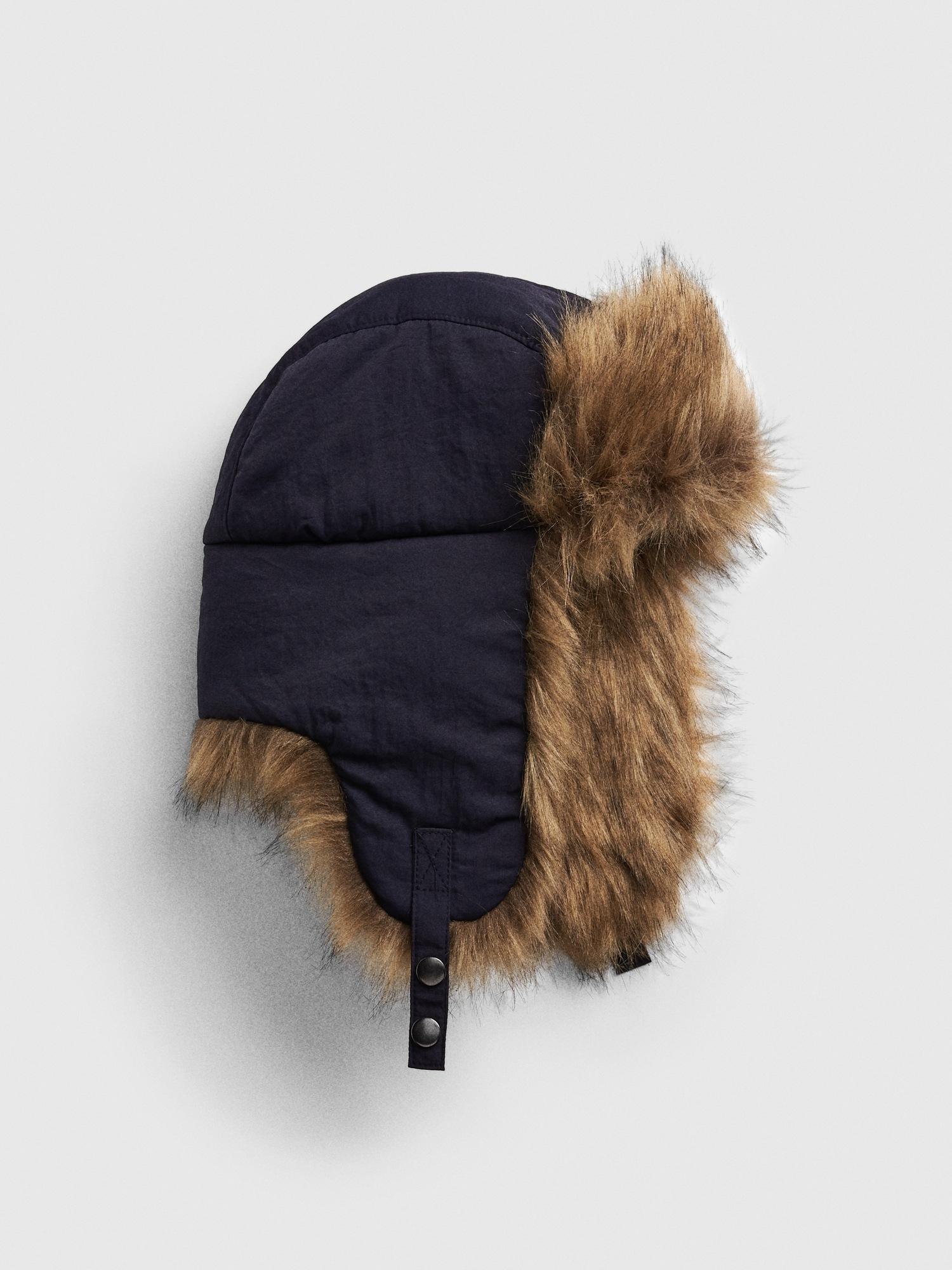 bccd7a5fe6f45a Faux-Fur Trim Trapper Hat | Gap