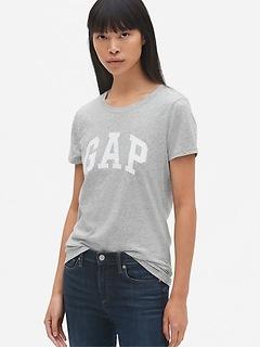 T-shirt ras du cou à manches courtes avec logo