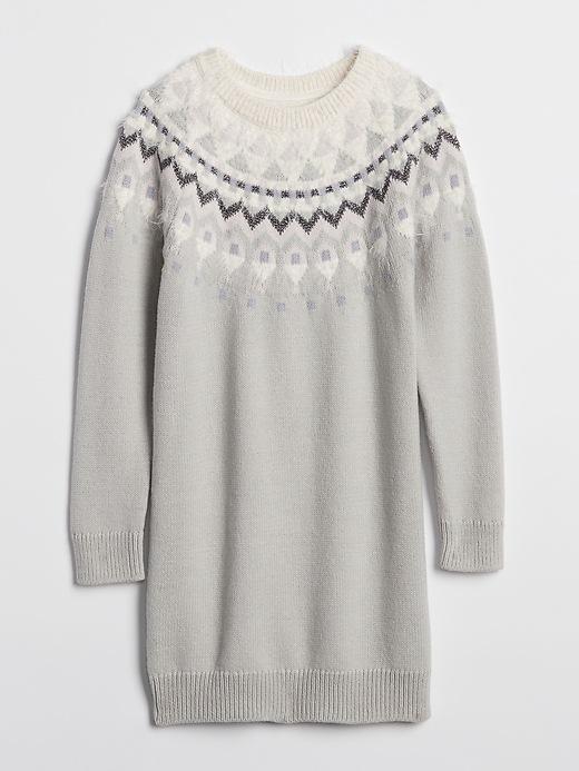 Sparkle Fair Isle Sweater Dress by Gap