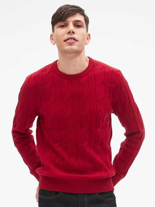 Wool Cable Knit Pullover Sweater by Gap