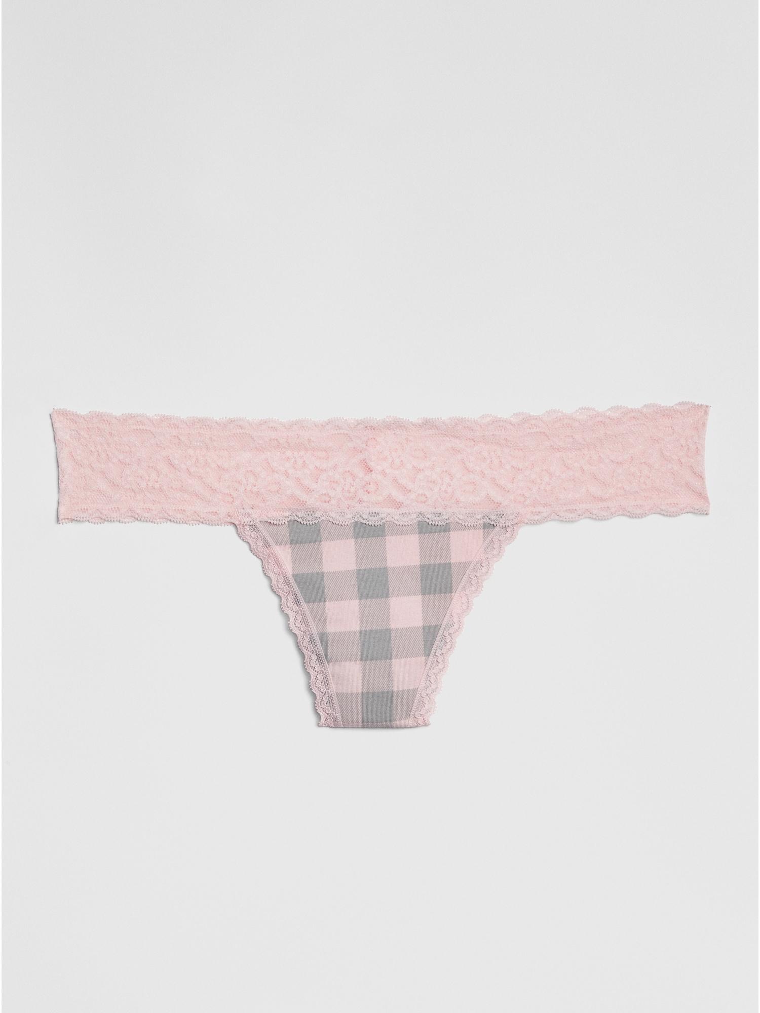 27cda91c69c02 Stretch Cotton   Lace Thong
