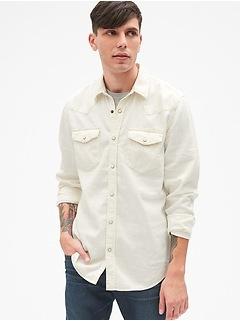 Denim Western Shirt in Slim Fit