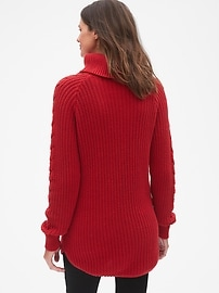 c3da43650 Maternity Cable-Knit Turtleneck Pullover Sweater