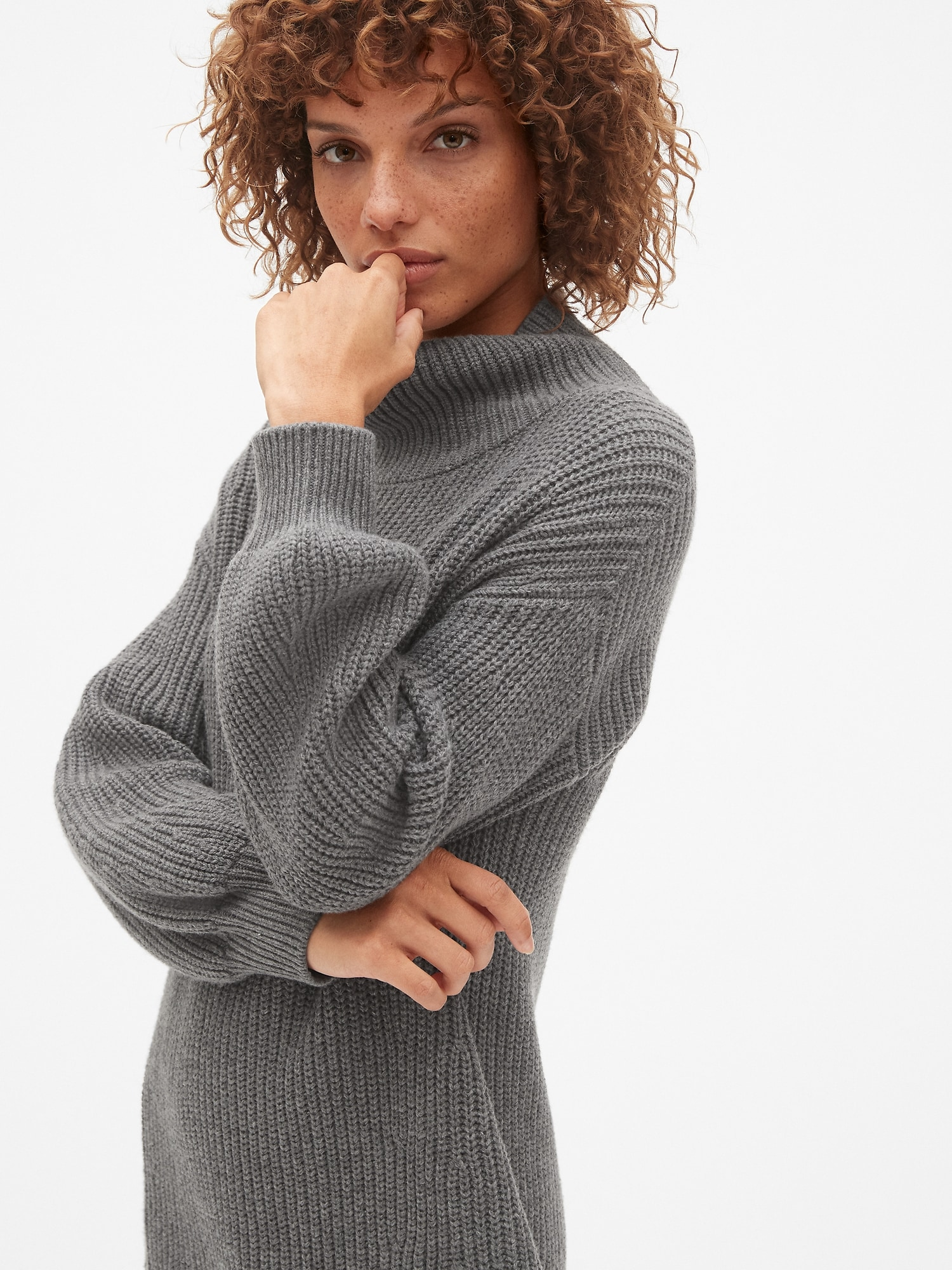 fa1d320974c7eb Cozy Blouson Sleeve Turtleneck Sweater Dress | Gap