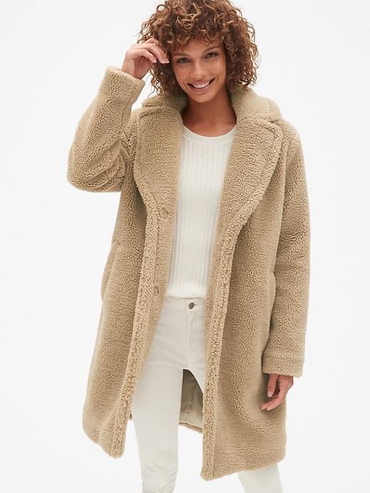 Long Teddy Coat by Gap
