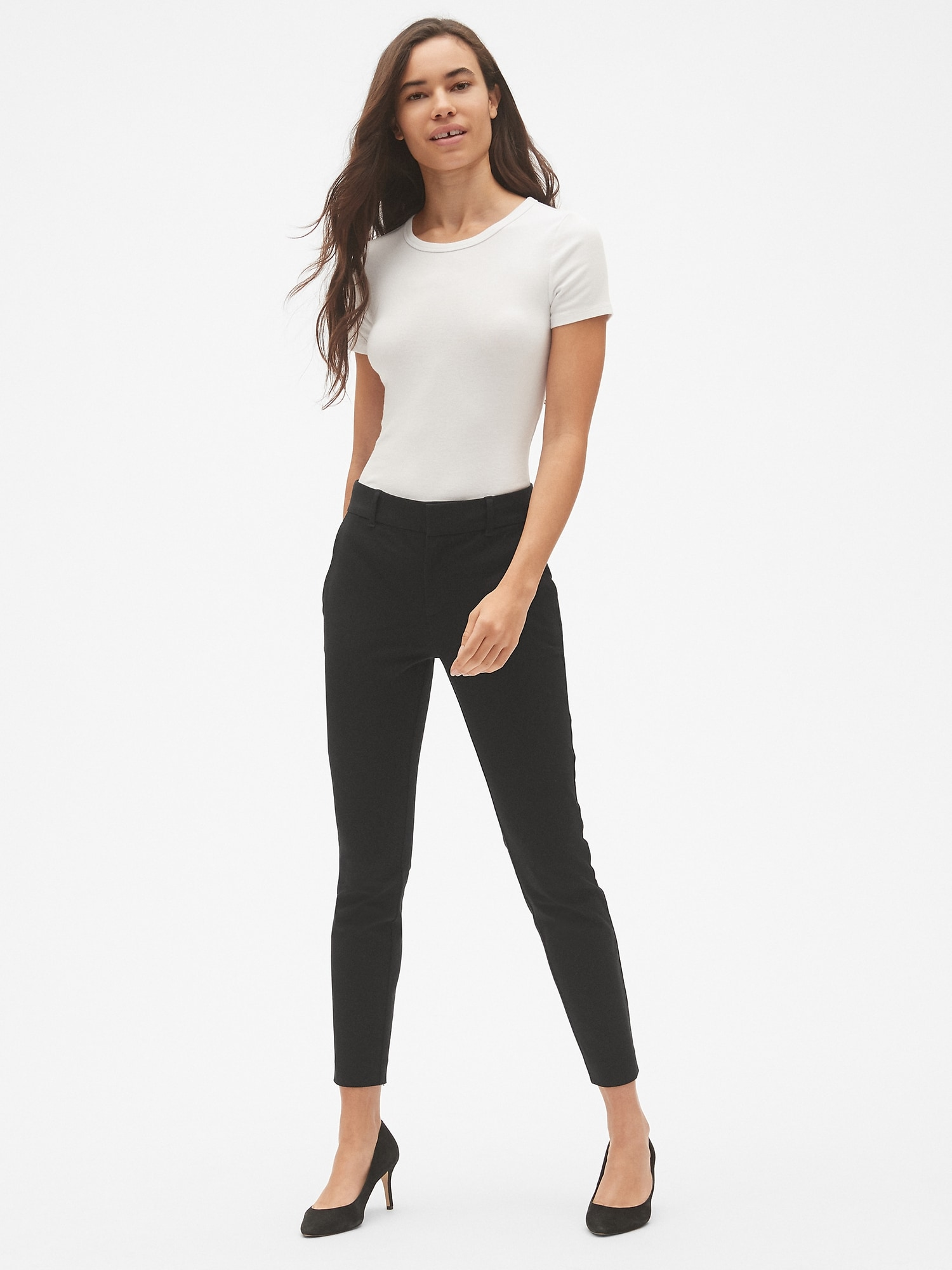 Gap Black Signature Skinny Ankle Pants with Secret Smoothing Pockets 14