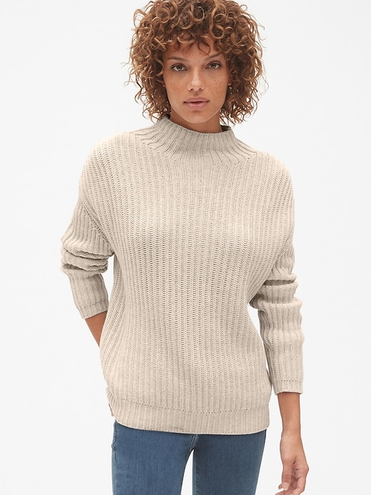Shaker Stitch Pullover Turtleneck Sweater by Gap