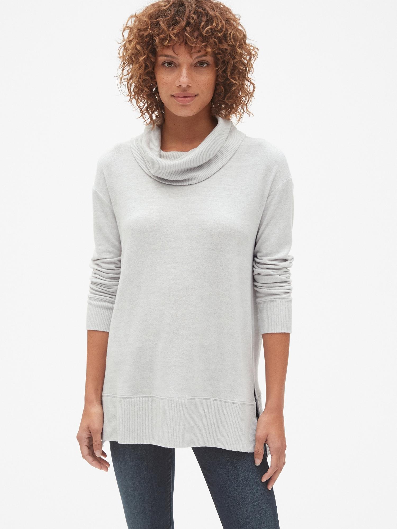 a5b503a1 Softspun Cowl-Neck Pullover Sweater | Gap