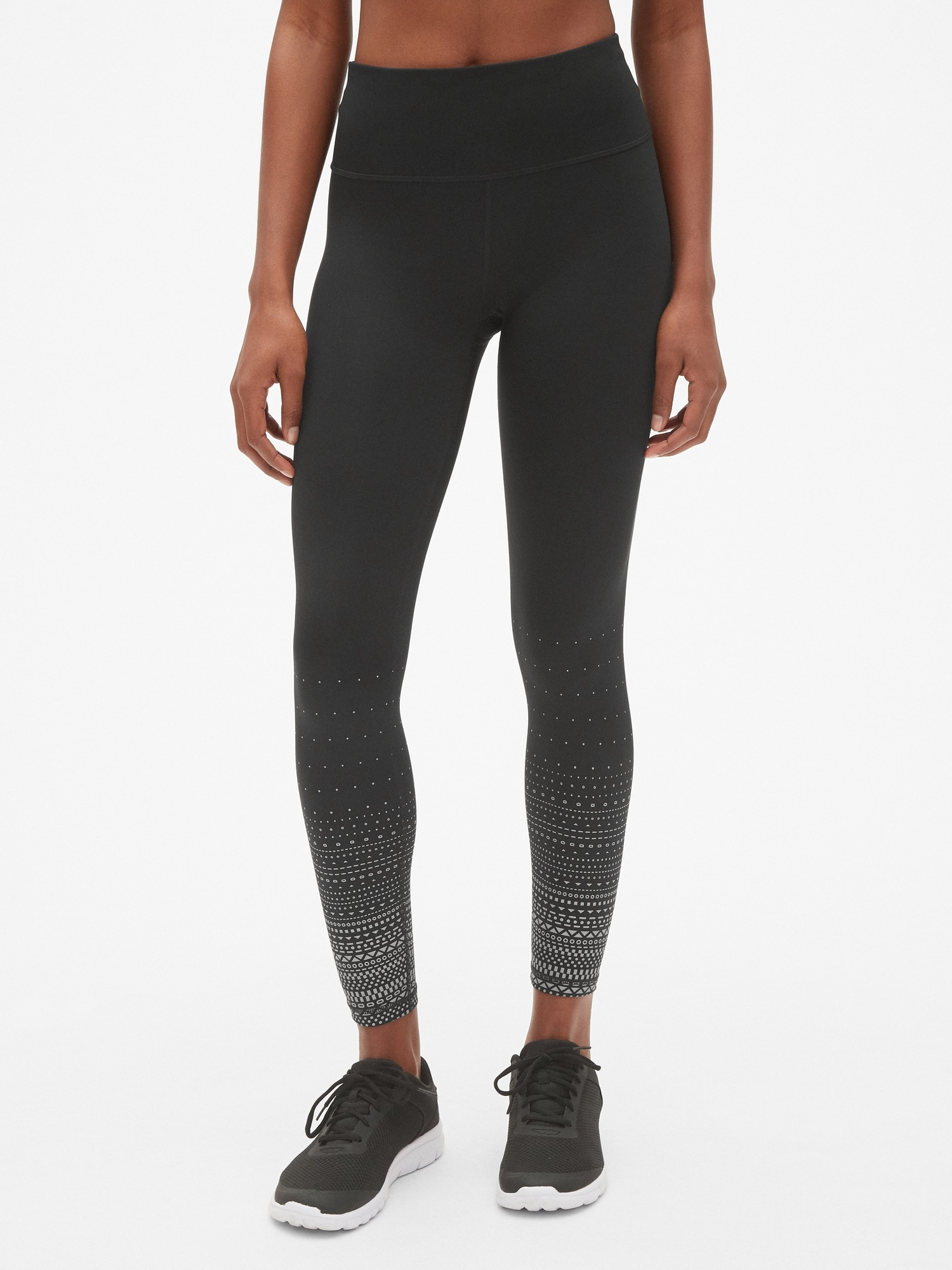 4d7a947e6e0ed GapFit Winterbrush High Rise Reflective Print Full Length Leggings | Gap