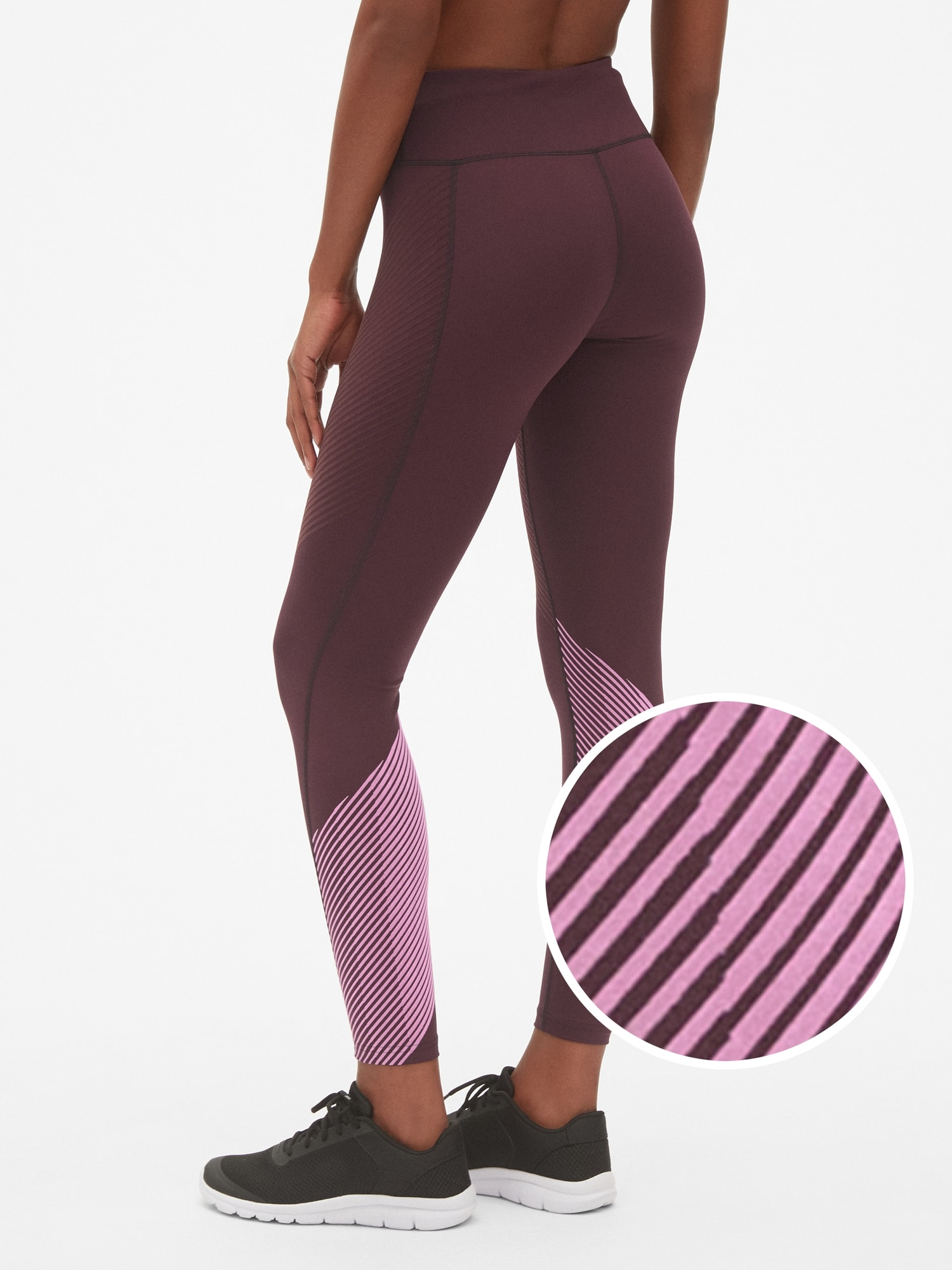 4b5eb5fe3d GapFit Textured Stripe Leggings in Sculpt Compression | Gap