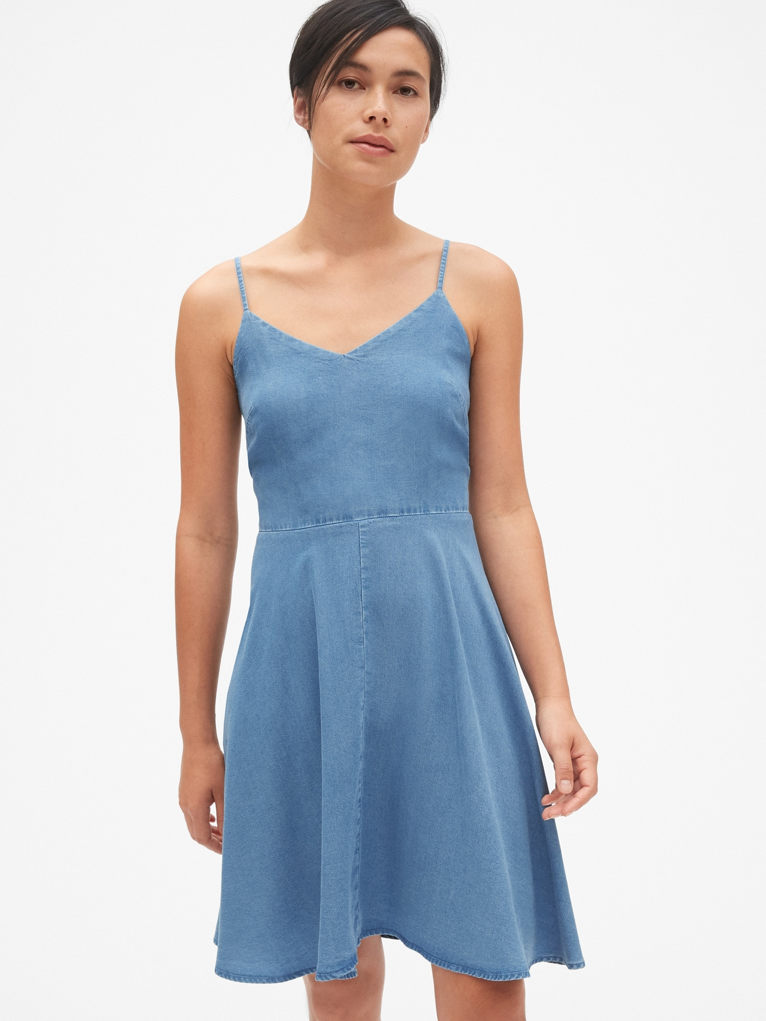 c7f7ff40c74 Fit and Flare Cami Dress in TENCEL™