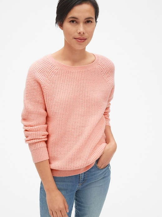 Waffle Stitch Pullover Sweater by Gap