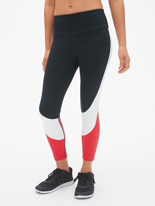 Gap Fit High Rise Blackout Colorblock 7/8 Leggings by Gap