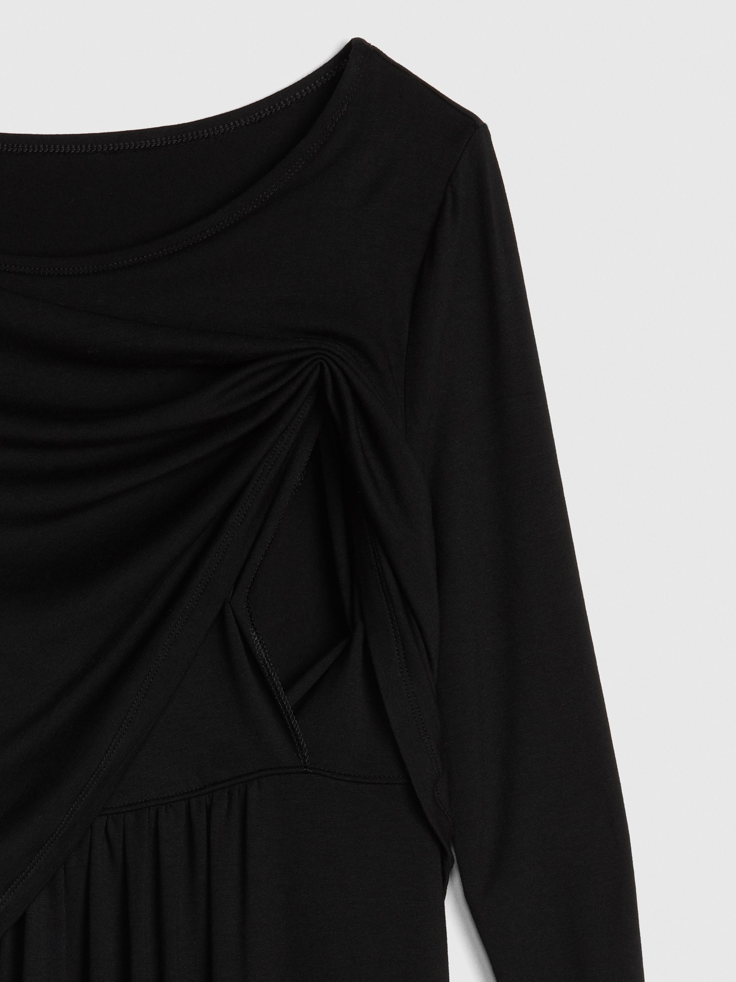 dd21d8cdaa9 Maternity Long Sleeve Layered Nursing Dress