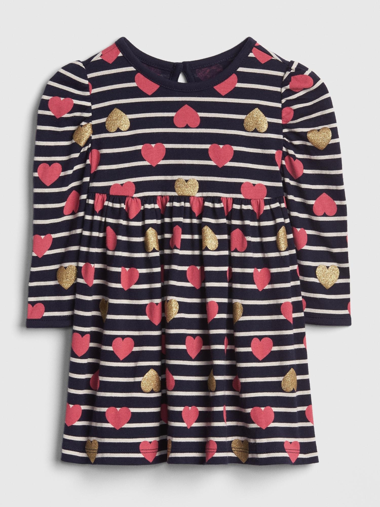c7c2ebb7698db9 Baby Glitter Stripe Heart Dress   Gap