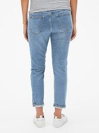 c526bf701572b Maternity Soft Wear Full Panel Best Girlfriend Jeans | Gap