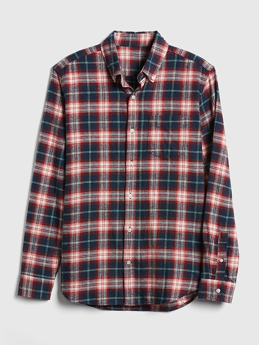 Standard Fit Flannel Pocket Shirt by Gap