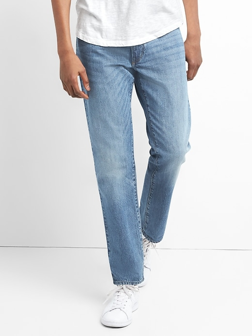 Washwell Jeans In Slim Straight Fit With Gap Flex by Gap