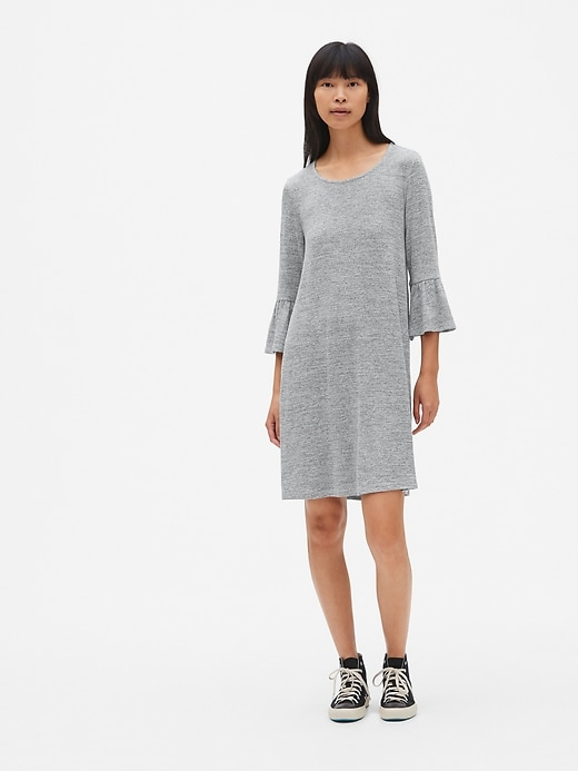Softspun Bell Sleeve Swing Dress by Gap