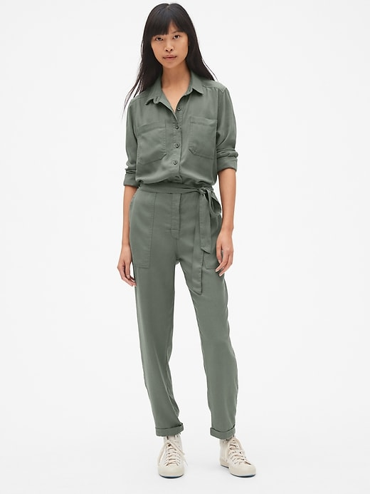 Utility Jumpsuit In Tencel™ by Gap